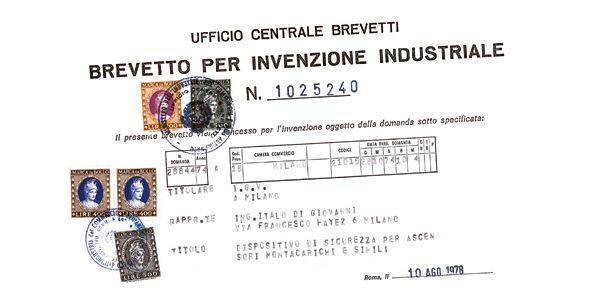 Una de las primeras patentes industriales de IGV