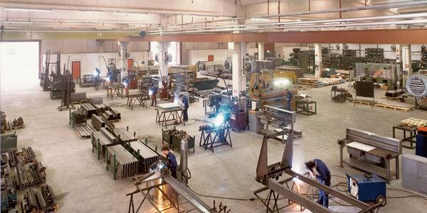 Vista del taller en los años setenta